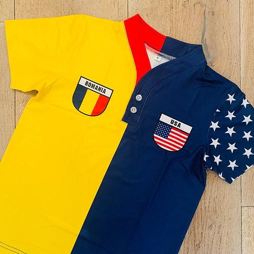 50:50 Shield Jersey Romania + USA