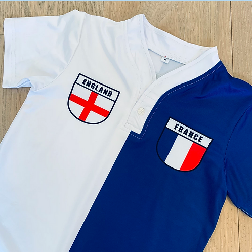 50:50 Shield Jersey England + France