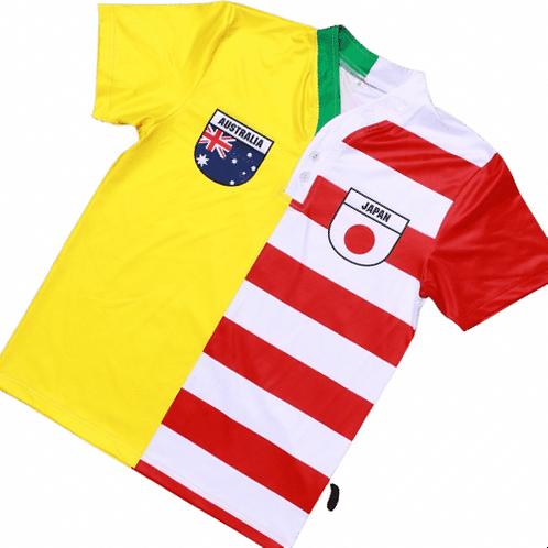 50:50 Shield Jersey Australia + Japan