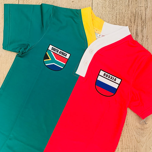 50:50 Shield Jersey South Africa + Russia