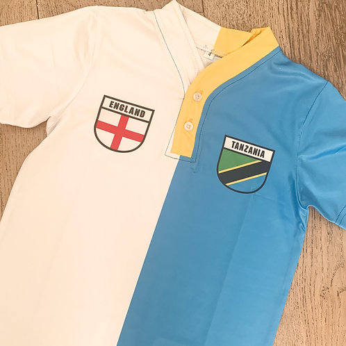 50:50 Shield England +Tanzania