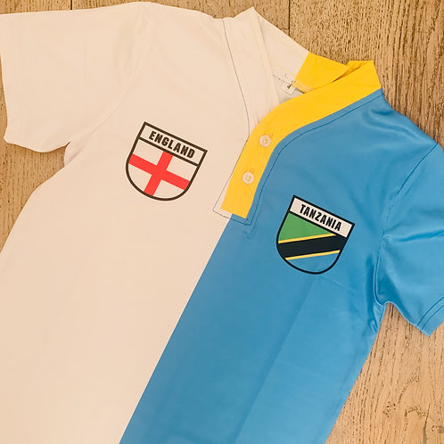 50:50 Shield Jersey England/Tanzania