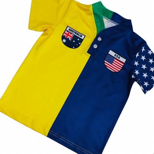 50:50 Shield Jersey Australia+ USA