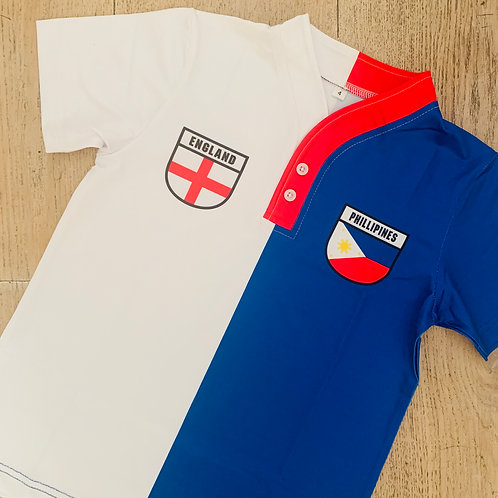 50:50 Shield Jersey Philippines + England