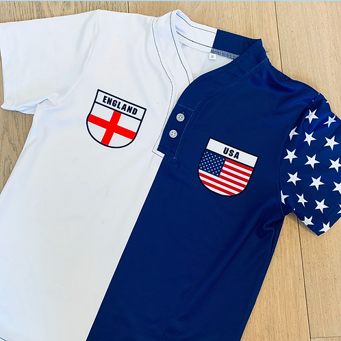 50:50 Shield Jersey England + USA
