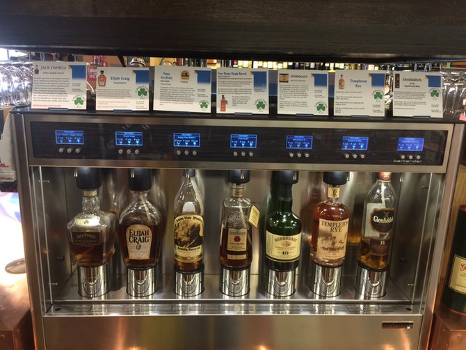 Cigar Lounge meets Bartender, the first whiskey dispensing technology by WineEmotion USA