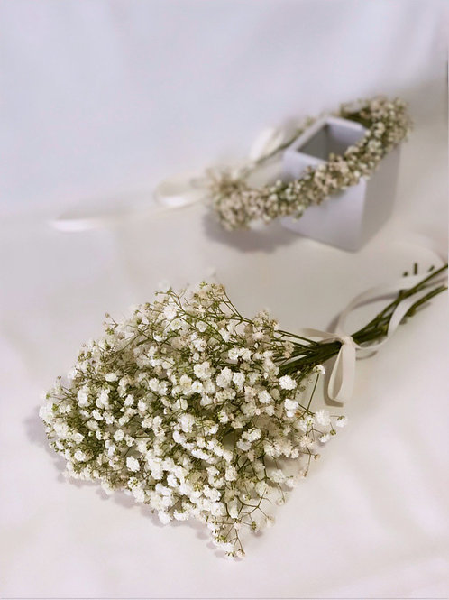 White Baby's Breath Hand Posy