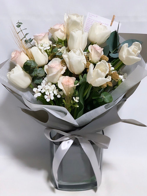 Tulip and Rose Bouquet