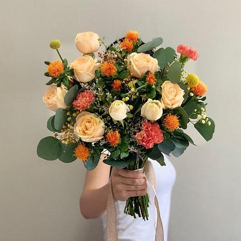 Orange Carthamus Bouquet