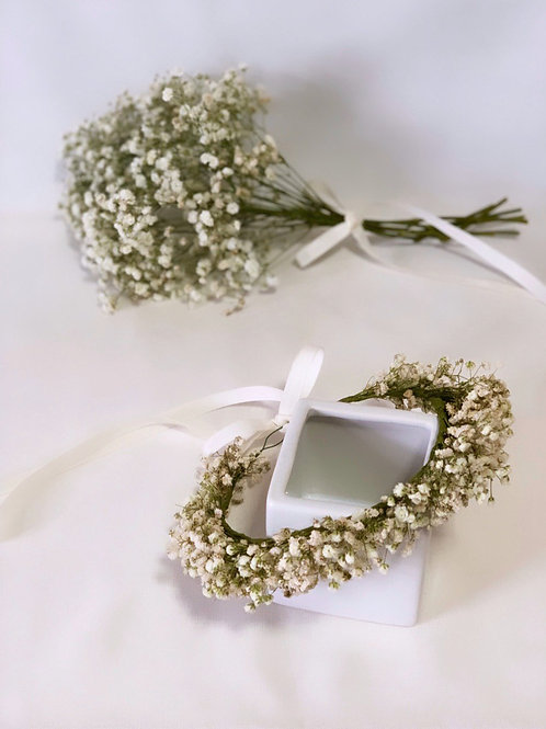 White Baby's Breath Floral Crown