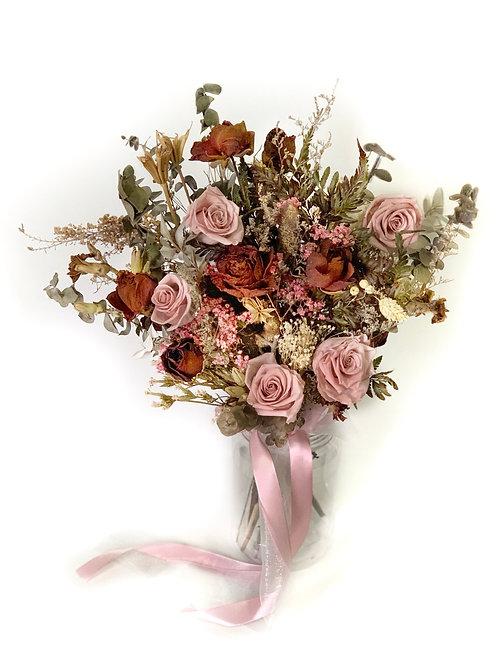 Rustic Rose Bridal Bouquet