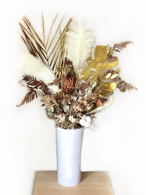 Preserved Flowers in Tall Vase