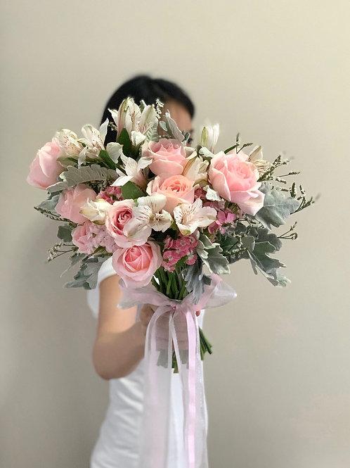 Pastel Pink Rose Bouquet