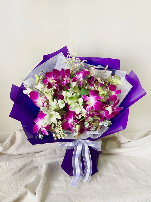 Freestyle Lilac Orchid Bouquet