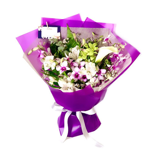 Lilac Orchid Bouquet