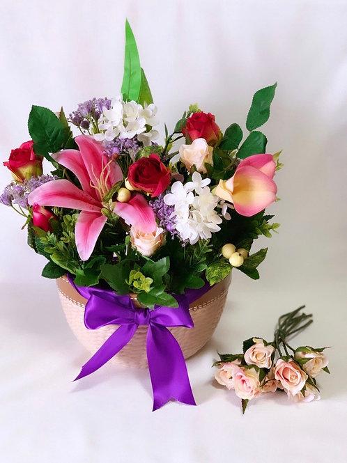 Silk Flower Vase C