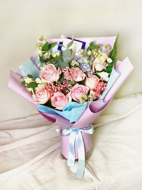 Freestyle Pink Rose Bouquet