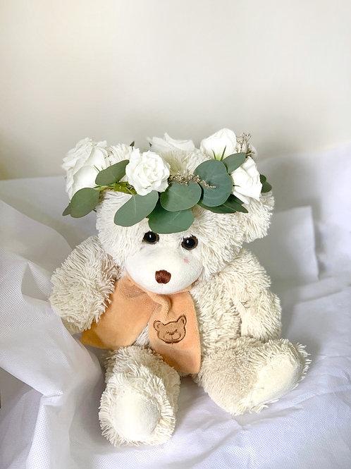 White Eustoma Flower Crown