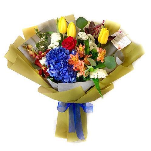 Hydrangea and Tulip Bouquet