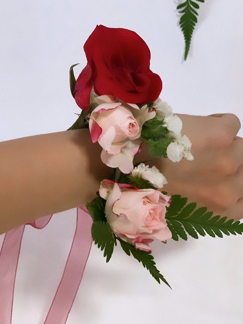 Red Rose Wrist Corsages