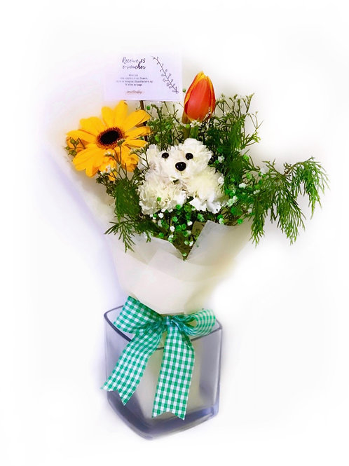 Vibrant Puppy Bouquet