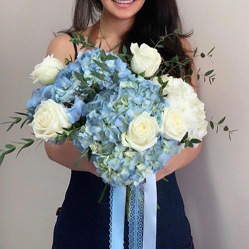 Baby Blue Hydrangea Bouquet