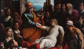 Pietro resuscita una donna.JPG
