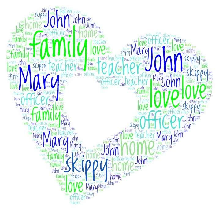 Word Art 37 heart