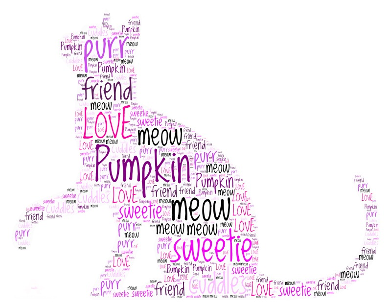 Word Art 44 cat