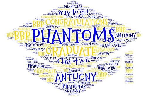 Personalized Graduation Word Art Print