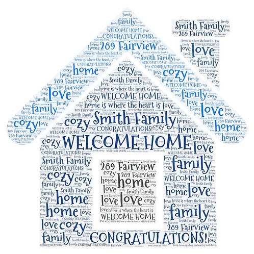 Personalized Welcome Home Word Art Print