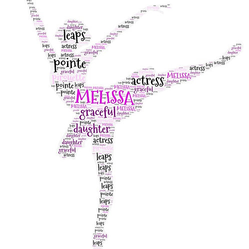 Personalized Ballerina Word Art Print