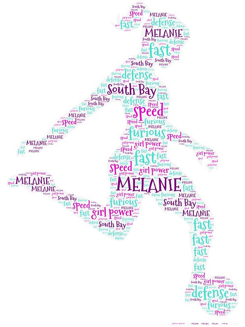 Personalized Soccer Girl Word Art Print