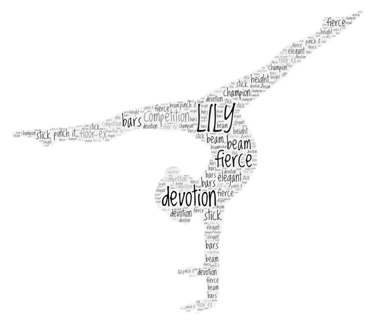 Word Art gymnast