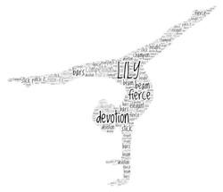 Word Art gymnast