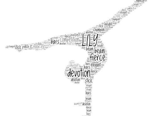 Personalized Gymnast Word Art Print