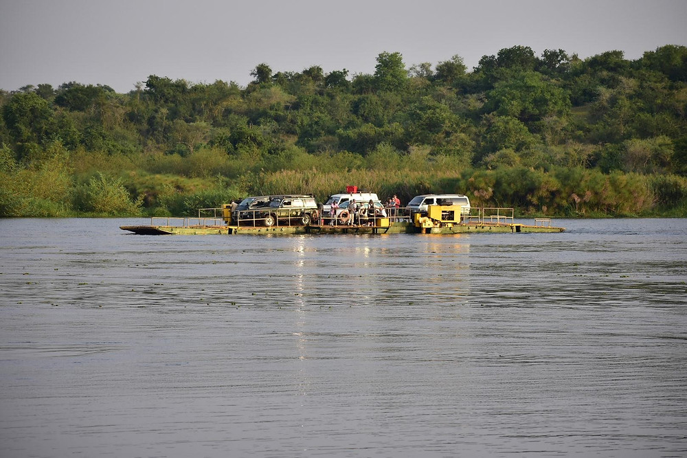 Murchison Falls, ferry, Nile, Alakara reiser, Uganda