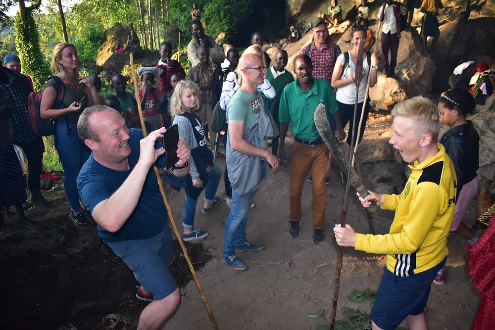 kapchorwa, cave dance, Alakara reiser, home of friends