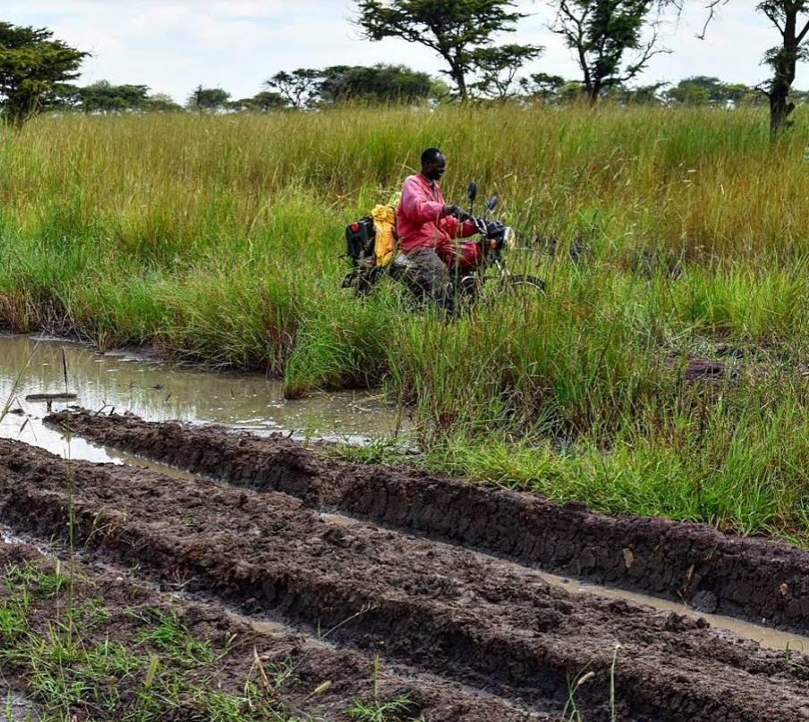 Kapelebyong, bad roads, motor cycle, rain, mud, karamoja, uganda, napak