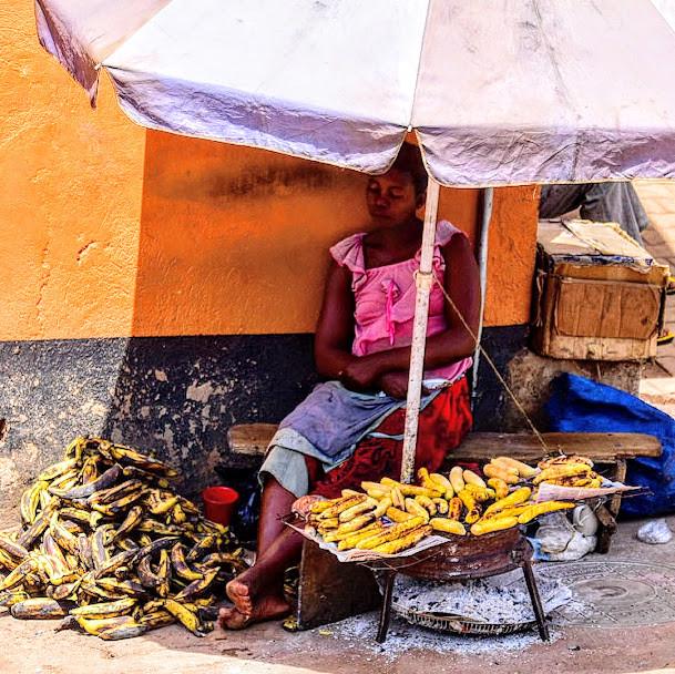 Plantain, street food, Kampala, Uganda, bananas