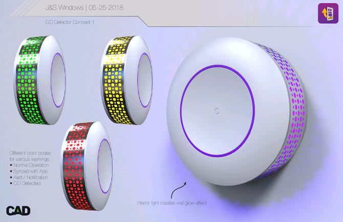 New concept designs of our home windows and carbon monoxide detectors!  Patent Pending.