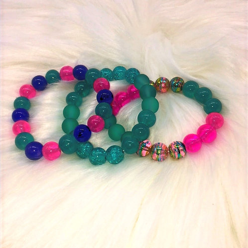 """""""Abstract"""" Triple Stack Bracelets"""