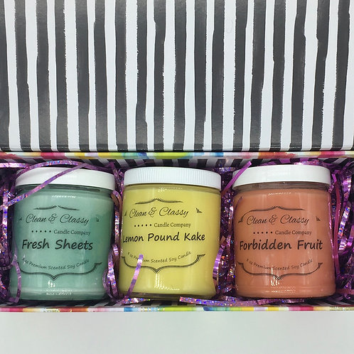 Water Color Candle Box (Please put your scent choices in the notes at checkout)