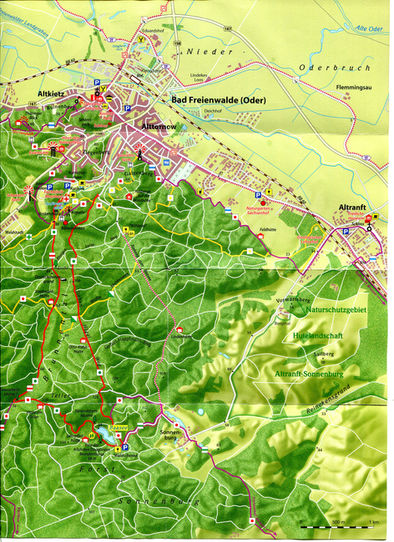 Wanderwegekarte der Umgebung