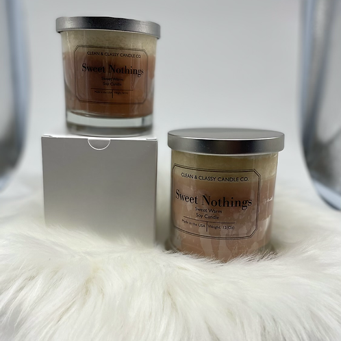 Sweet Nothings 100% Scented  Soy Candles