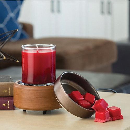 Pewter Walnut Wax Melt Warmer & Candle Warmer