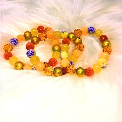 Amber Triple Stack Bracelets