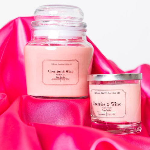 Cherries & Wine 100% Soy Candle