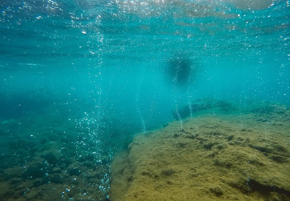 Bulles sous l'eau Guadeloupe