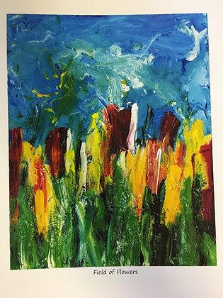 Linda C. - Field of Flowers (Print)
